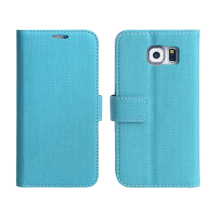 For galaxy s6 wallet phone leather case with phon stand