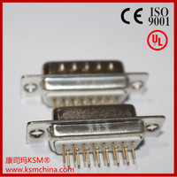 D-sub db connector for board female15 pin