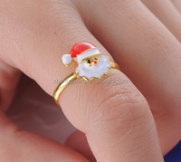2016 New fashion Metal alloy Christmas day Santa Claus Ring