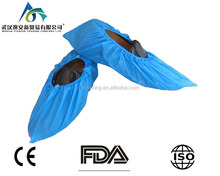 antistatic disposable Medical Nonwoven Waterproof CPE Shoe Cover Manufacturer/anti slip non woven shoe cover disposable pattern
