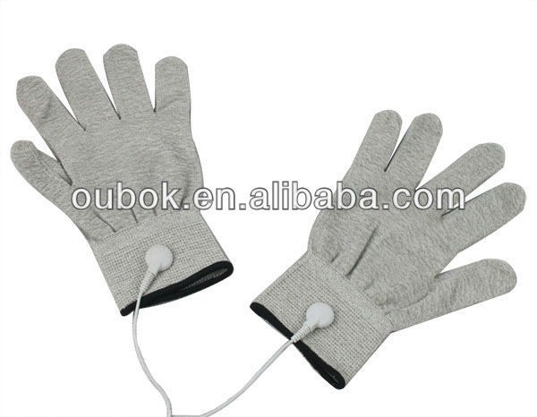 Electric massage gloves/Tens unit gloves for physical therapy