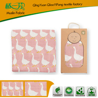 Printed Super Soft Blanket Made in China Eco Baby Products Organic Muslin Blanket Swaddle