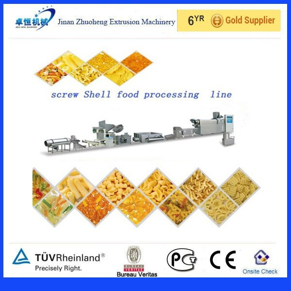Fried wheat flour puff snack process line food extruder machine