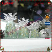 Christmas Nativity scene clear glass guardian angel for home decoration