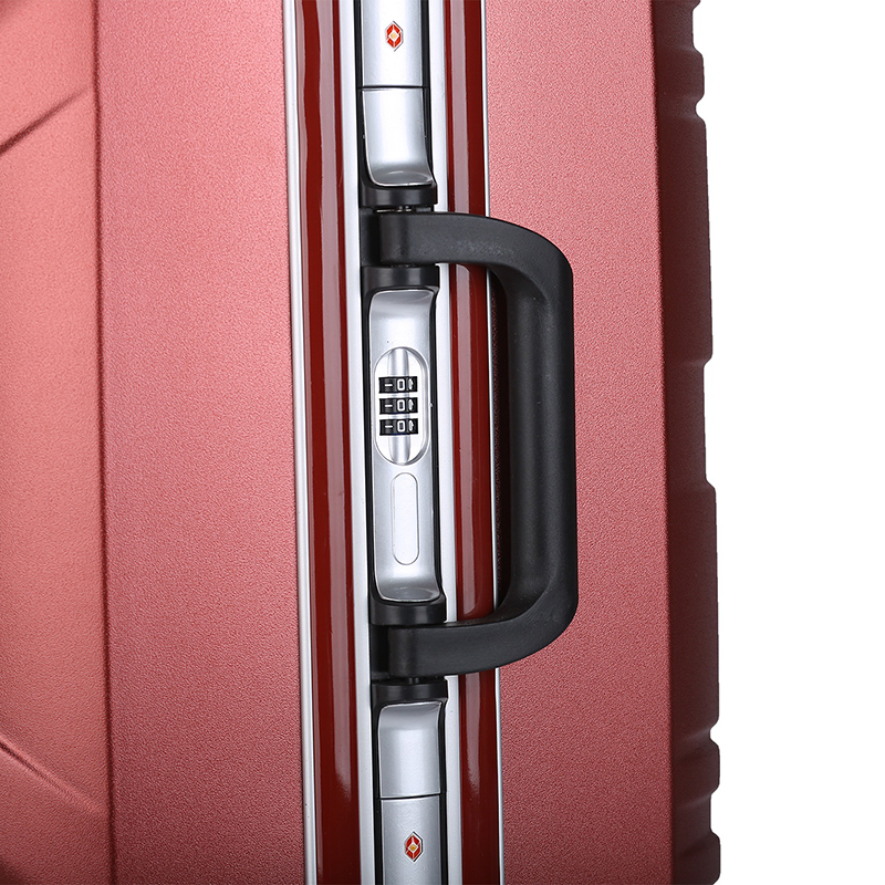 Cabin Size Aluminum Frame Pure Color Multi-use PC Board Air Travel Suitcases