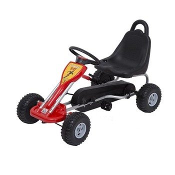 Kids Pedal Ride on Car Go Kart W/ Hand Brake
