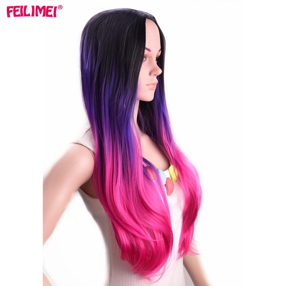 ombre purple wigs