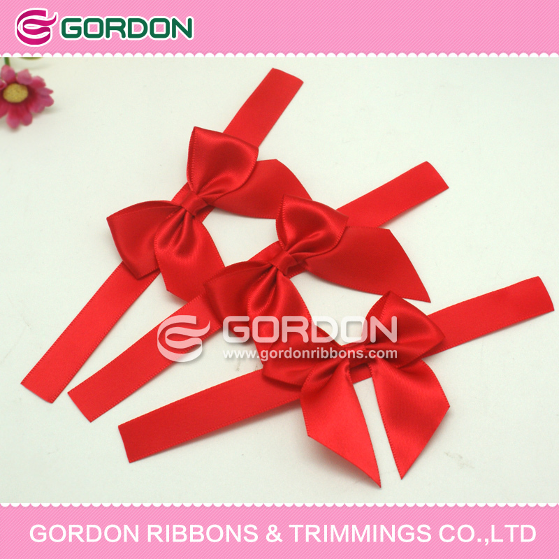 polyester ribbon with loop/satin ribbon pre-made bows