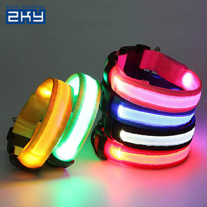 Colorful Lighting Safety LED Night Flashing Luminous Pet Dog Collars Leashes