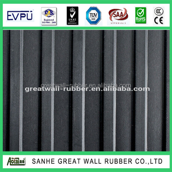 best quality fine and wide ribbed rubber matting made in China manufacture with different colors
