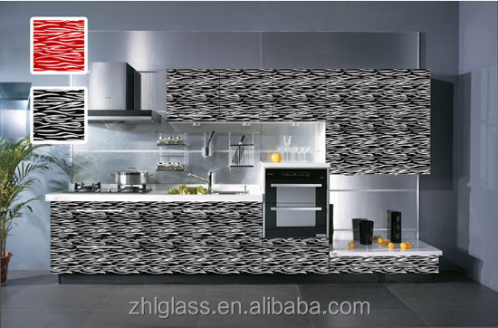 silk screen printed glass for buildings/for kitchen cabinet(Yu wei wen)