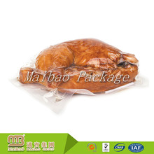 Custom Printed Food Packing Nylon PE Clear Plastic Vacuum Frozen Whole Cooked Roast Chicken Packaging Bags