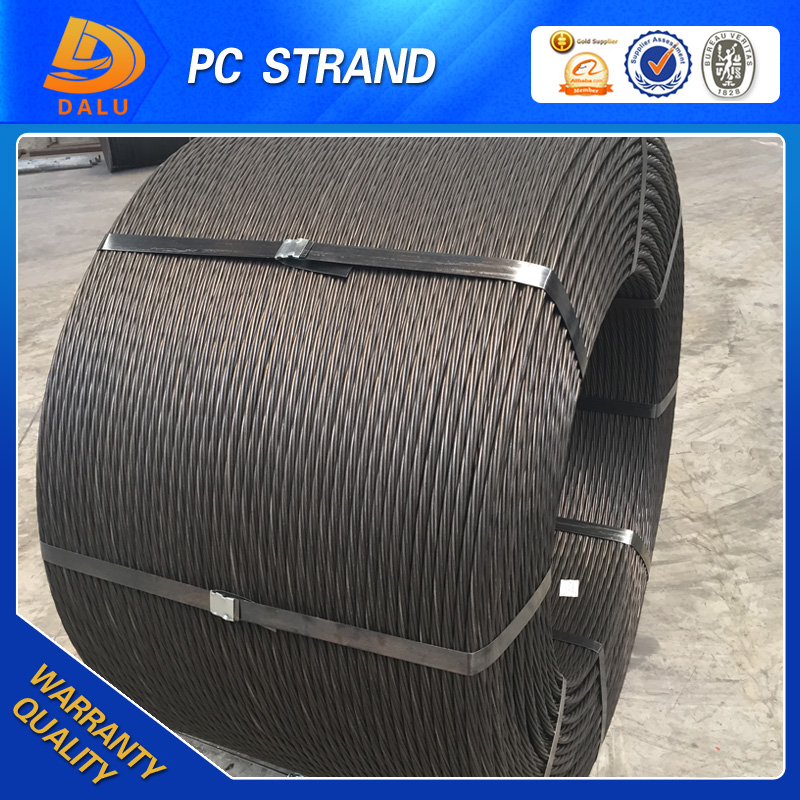 Hdpe steel wire cable 1860Mpa 12.7mm 15.24mm pc strand/steel strand for prestressed concrete