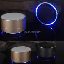 2016 A10 New Arrival Fashion Alluminum Alloy LED Light Bluetooth Wireless Super Bass Stereo Handsfree Portable Speaker