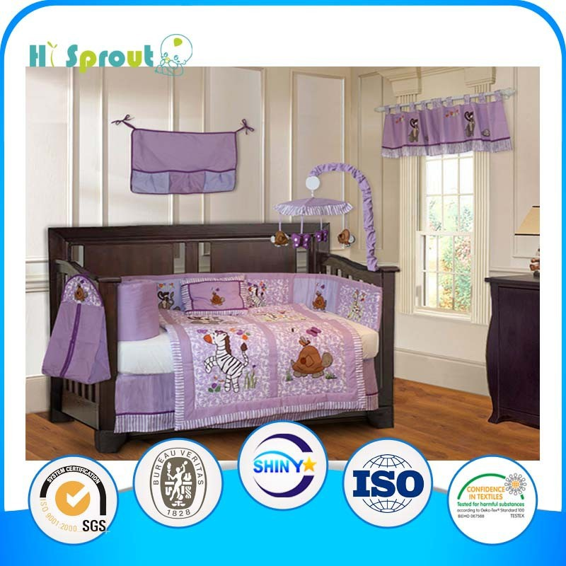 Zebra and Turtle Embroidery Bedding Sets for Babies