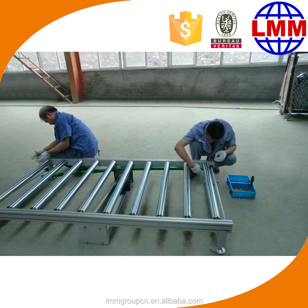 Expandable food grade conveyor line for production line equipment