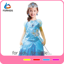 Girls arabian princess costume,fancy blue princess dress costume for carnival