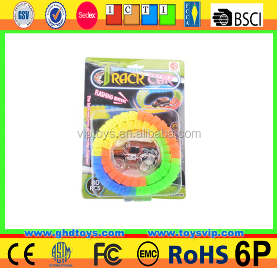 mini Colorful Glow In The Dark Magic electric car track toy