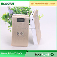 MISOOYOU Portable Desktop 12000mah Qi Wireless