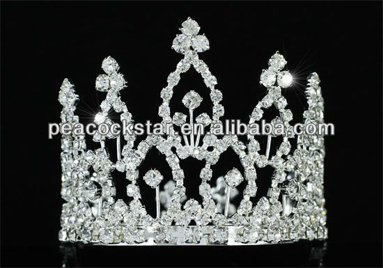 Wholesale Flower Girl / Baby Rhinestone Full Circle Round Mini Tiara Crown CT1742