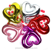 Little Heart Shape Foil Balloon Wedding Decorations 5 Colors