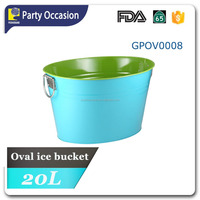 Galvanized oval beverage cooler with two-tone finish GPOV0008