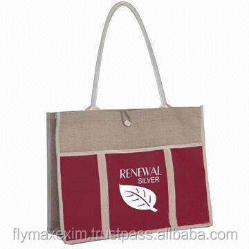 Jute Bags With Zipper Closure, Jute Tote Bags With Button Closure