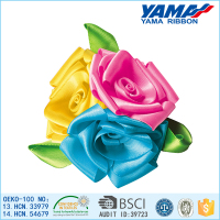 Top quality colorful satin ribbon artificial flower mini bouquet