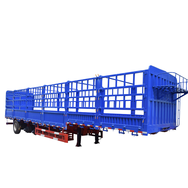 3 axle 40t-60t cargo trailer Fence semi trailer