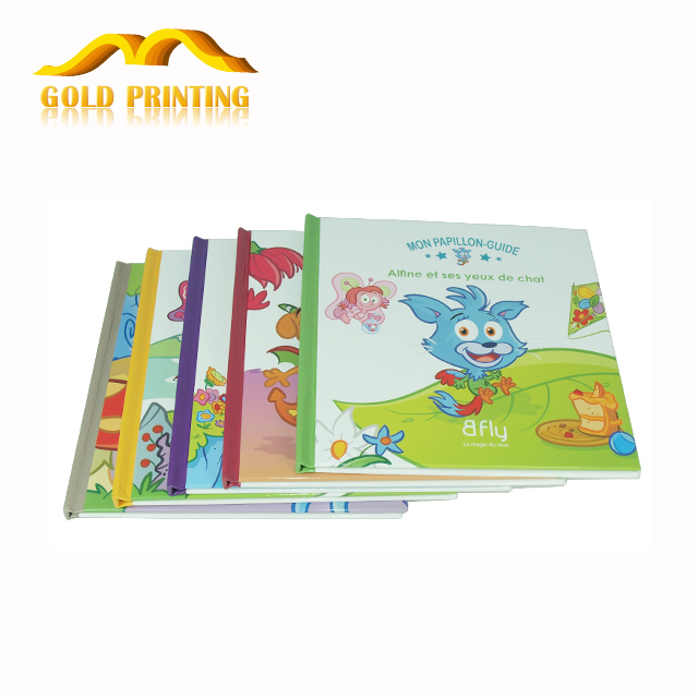 Factory outlet full color hardcover board english story children books printing