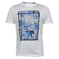 Men Cheap Custom 100% Cotton White Printed Tee Shirt Short Sleeve Graphic Tee Shirts