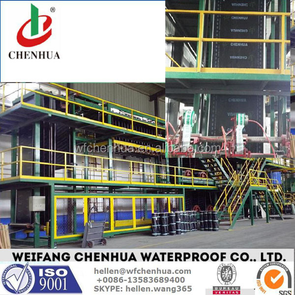SBS / APP Modified bituminous waterproof membrane production line --- China factory installation overseas