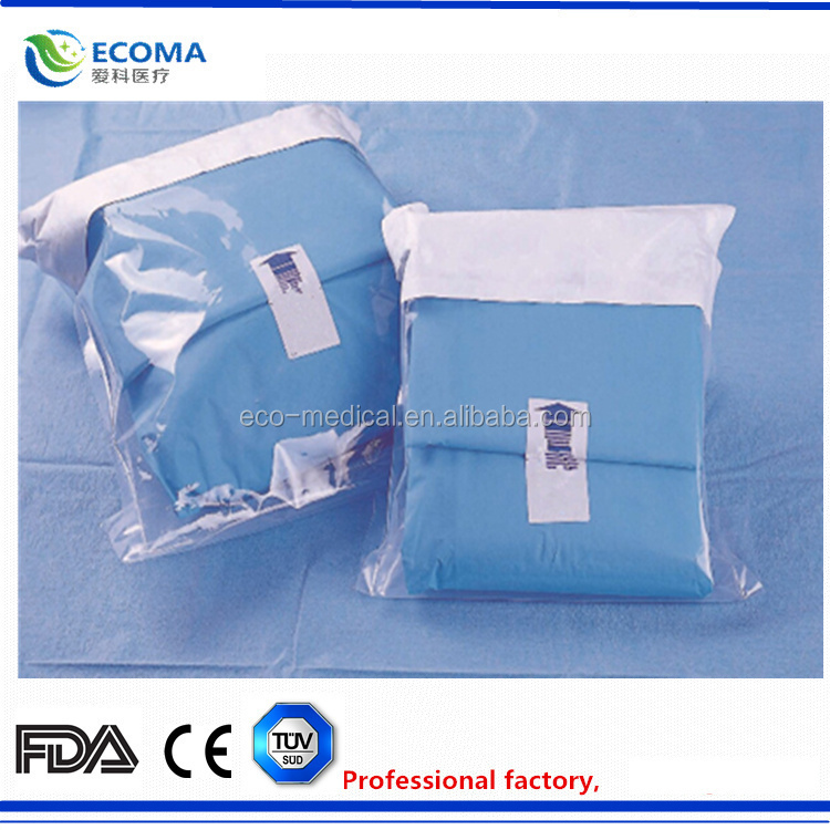 EO Gas Sterile surgical suture sterile packing C-section surgical Drape pack