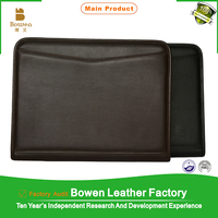 TYWEN - 0063 leather file folder zipper file for a3 with handmade designing file separators and also for medical folder