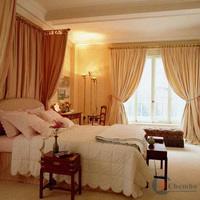 2011 polyester curtain design fabric paint curtains