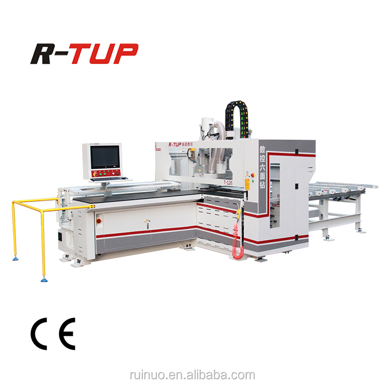 cnc vertical and horizontal panel boring machine 6 axis