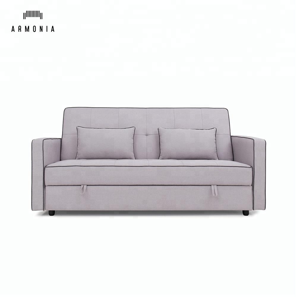 European Style 3 Seater Sleeping Sofa Bed With Storage Space