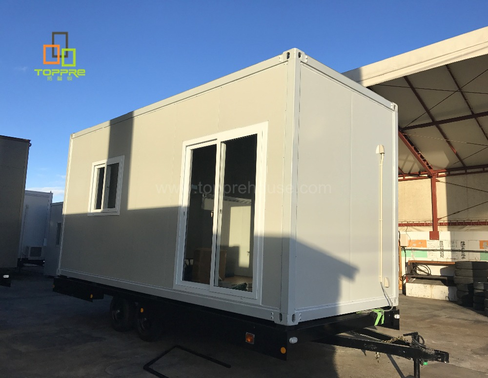 20ft container with wheels standard size container house for modern prefab house usa