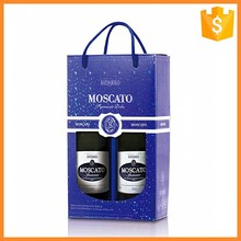 High quality custom printing 2 bottle wine paper bag for wine packaging