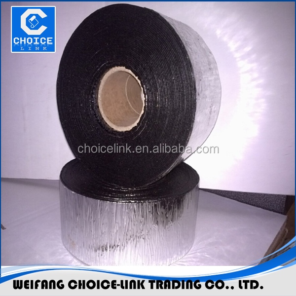 Self Adhesive Rubberized Bitumen Based Cold Applied Waterproof Flash Tape