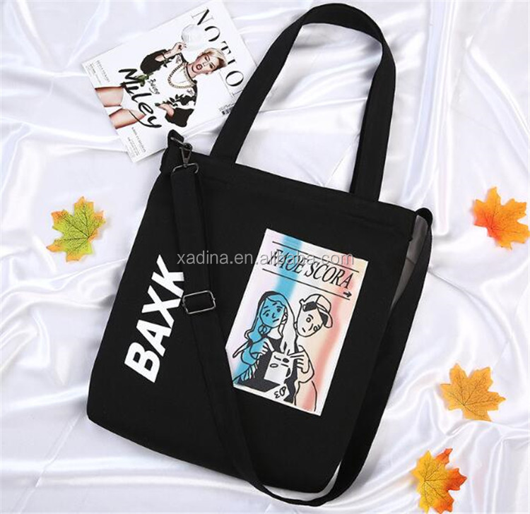 Summer Purses Cartoon Characters Canvas Bags with Custom Printed Logo Satchel Bags Women Crossbody Bags for School