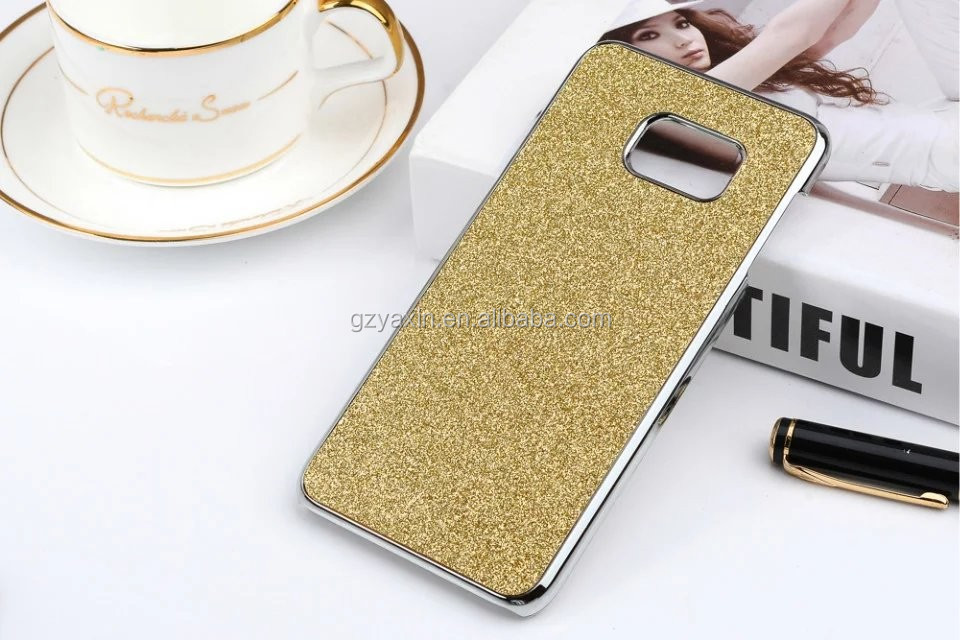 2017 new mobile accessories for Samsung galaxy S8 shining powder case;bling bling metal case for Samsung galaxy S8 phone cover