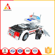 Safety material policecar police theme kids building blocks