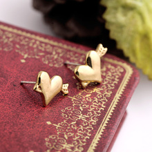 2015 Hot Sell Fish Shape Fashion Purple Gold Stud Earring