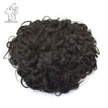 Curly Toupee French Lace Human Hair Men Toupee African American Toupee