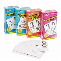 Large Paper Tuck Box Number Educational Flash Cards