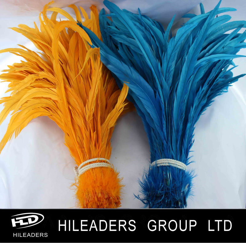 White Color Bundle Rooster Feather