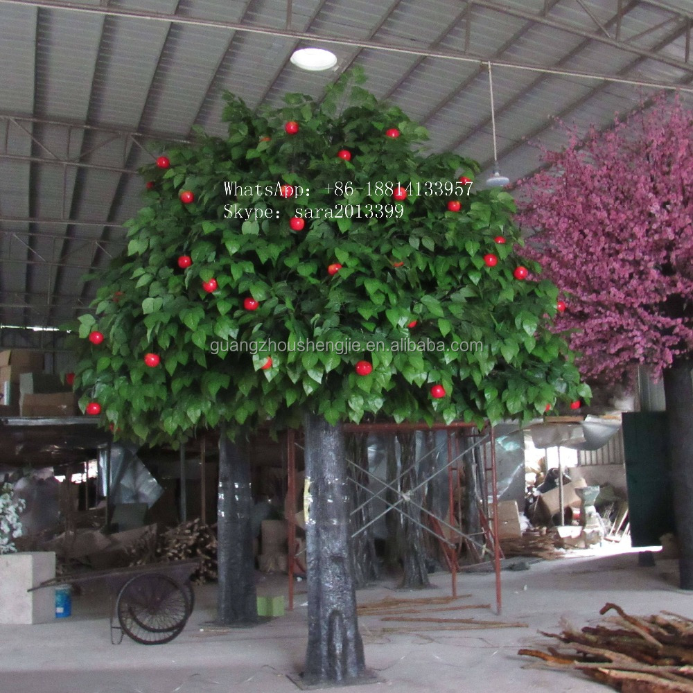 Giant decorative apple tree,artificial large tree