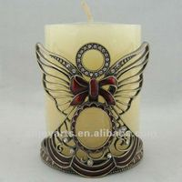 Jeweled Angel Design Candle Holder #P02110a