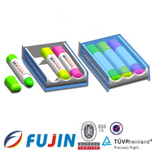High quality gel wax highlighter crayons in box for office staionary retractable highlighter pen